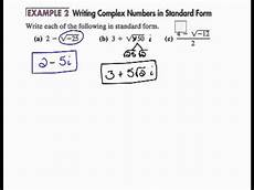 standard form of complex numbers writing complex numbers in standard form 6 8 youtube