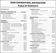 car repair manuals download 2008 ford expedition spare parts catalogs 2008 expedition navigator repair shop manual 2 volume set original