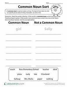 what is a common noun worksheet education com