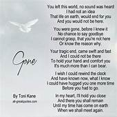 Gone By Toni Kane  Dad Poems Grief Miss You