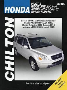 small engine service manuals 2007 honda ridgeline free book repair manuals honda pilot ridgeline 2003 2012 acura mdx repair manual 2001 2007 chilton 30400