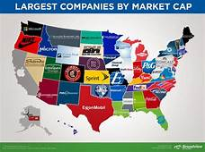 This Map Shows The Largest Company In Each State  Simplemost