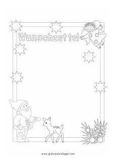 Malvorlagen Weihnachten Wunschzettel Wunschzettel Weihnachtswichtel Reh Gratis Malvorlage In