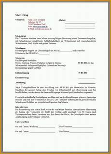 Mietvertrag Zimmer - 16 ph 228 nomenal zimmer mietvertrag vorlage sie