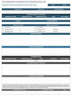 free request for information templates smartsheet