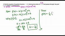 writing a quadratic function in standard form college