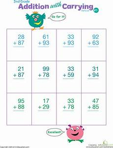 digits vertical addition with regrouping digits practice vertical addition with regrouping