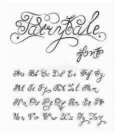 fairytale vector calligraphic font handmade