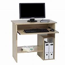 Schreibtisch 1m Tief - computertisch schreibtisch pc tisch lotta in sonoma eiche