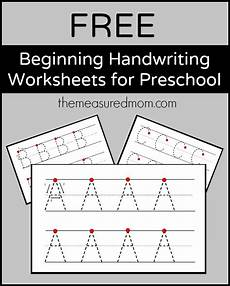 handwriting practice worksheets for free 21725 free beginning handwriting worksheets for preschool the measured