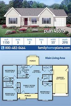 house plans ranch style house plan 45515 ranch style with 1150 sq ft 3 bed 2 bath