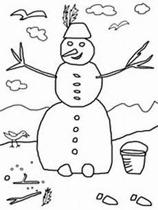 Schneemann Schmilzt Ausmalbild Schneemann Winterbilder Zum Ausmalen Malvorlagen