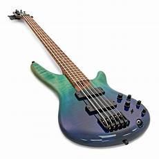 Disc Ibanez Sr875 5 String Bass Blue Reef Gradation At
