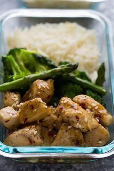 honey sesame chicken lunch bowls sweet peas and saffron
