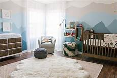 Transitional Boy S Nursery With Ombre Wall Treatment