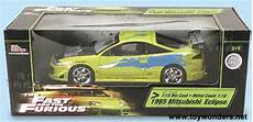 Fast And Furious Modellautos - the fast the furious mitsu eclipse by ertl 1 18 scale
