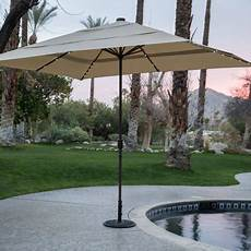 coral coast 8 11 ft rectangular aluminum market solar lighted patio umbrella walmart com