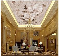 flower wallpaper ceiling customized 3d ceiling murals wallpaper flower ceiling