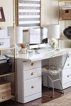 White And Gold Home Decor Ideas by White Black Gold Office Office Style In 2019 White