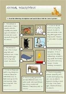 animal worksheets description 13834 animal description esl worksheet by l4ur4