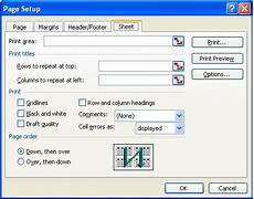 printing a draft of a worksheet microsoft excel