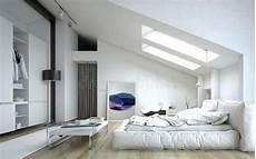 Fototapete Für Dachschräge - architectural bedroom inside white house stock