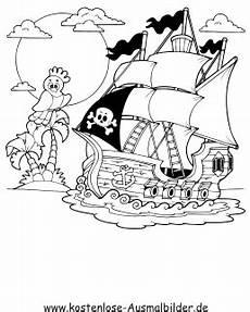 ausmalbilder piratenschiff piraten zum ausmalen