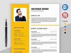 free microsoft word resume template with modern design by