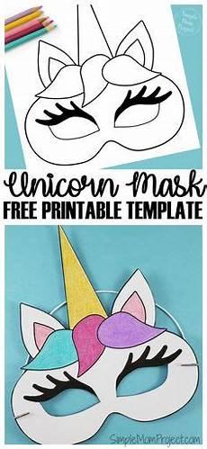einhorn masken mit kostenlosen druckbaren vorlagen