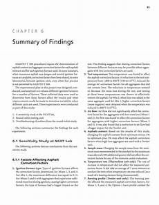 chapter 6 summary of findings variability of ignition