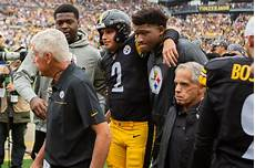 steelers make it official rudolph out of concussion steelers qb rudolph leaves with concussion