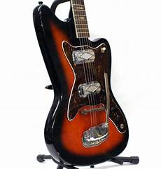 vintage silvertone electric guitars vintage sixties silvertone model 1478 silhouette electric guitar reverb