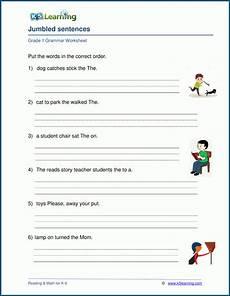 grade 1 jumbled sentences worksheet k5 learning