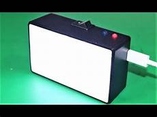 how to make a mini led light box rechargeable