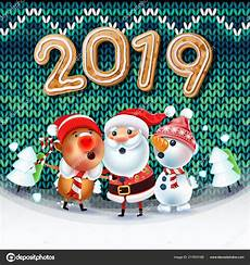 2019 merry christmas new year poster santa claus snowman symbol stock vector 169 deedman 217974168