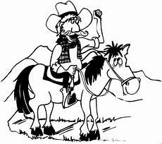 Malvorlage Pferd Comic Cowboy Auf Pferd Ruft Ausmalbild Malvorlage Comics