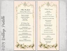 8 vintage wedding program templates psd vector eps ai illustrator download free premium