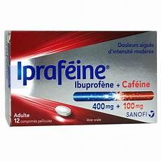 ibuprofene sans ordonnance iprafeine ibuprof 232 ne 400mg caf 233 ine 100mg 12 comprim 233 s
