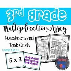 multiplication array worksheets for grade 1 4922 3rd grade multiplication array worksheets and task cards 3 oa a 1
