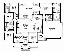 5 bedroom house plans 1 story floor plan 5 bedrooms single story five bedroom european