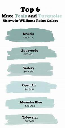top 6 mute teal and turquoise paint colors sherwin williams drizzle sw6479 aquaverde watery