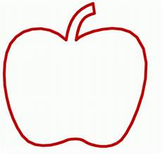 Gratis Malvorlagen Apfel Roter Apfel Schematisch Ausmalbild Malvorlage Gemischt