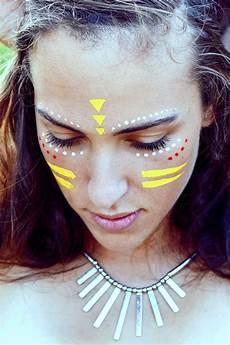das indianer make up kommt nie aus der mode festival