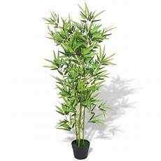 Vidaxl Plante Artificielle Avec Pot Bambou 120 Cm Vert
