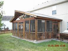 veranda kit screened in porches screened in porch kit patios and