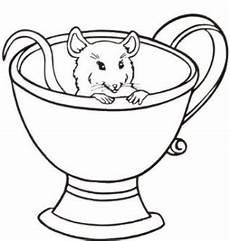 maus in tasse ausmalbild malvorlage tiere