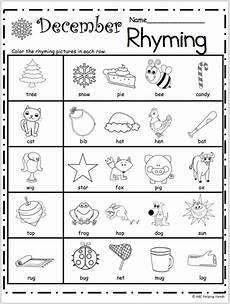 preschool worksheets free 18349 free kindergarten rhyming worksheets for december madebyteachers