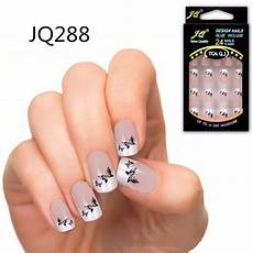 24pcs acrylic full cover nail tips false nail art with