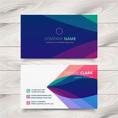 colorful name card template colorful purple stylish business card template design