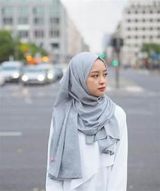 Model Jilbab Pashmina Kekinian Voal Motif